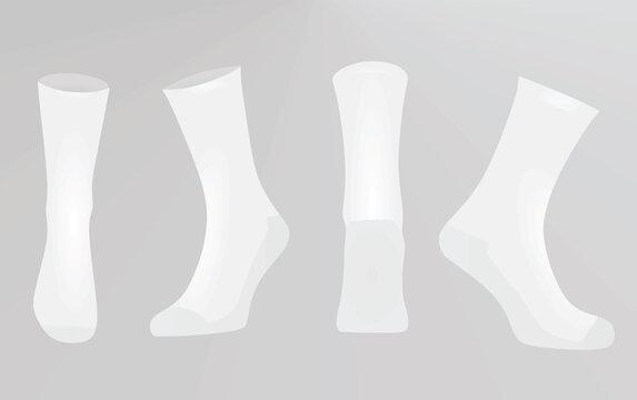 White socks. vector illustration
