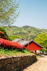 Chiljangsa temple at spring in Anseong, Korea