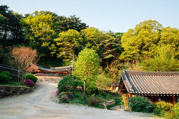 Seoknamsa temple at spring in Anseong, Korea