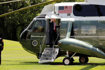 President Donald Trump departs for SpaceX Demonstration Mission 2 Launch