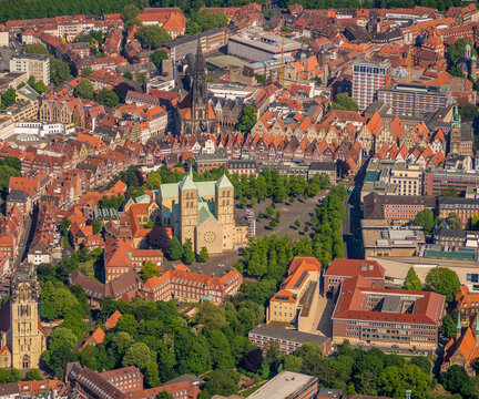 Aerial photo of the city Münster Westfalen NRW in Germany