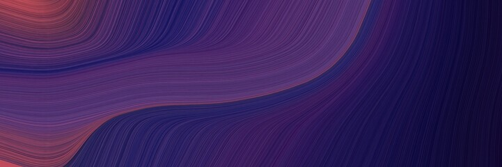 Poster Violet abstract moving horizontal header with very dark violet, old mauve and dark moderate pink colors. fluid curved lines with dynamic flowing waves and curves for poster or canvas