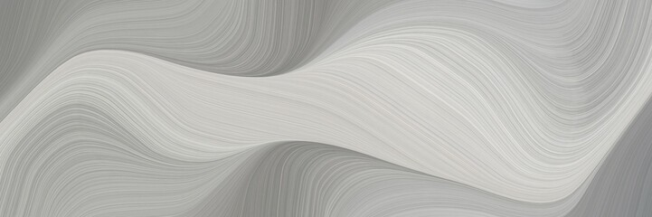 abstract artistic horizontal header with ash gray, gray gray and light gray colors. fluid curved flowing waves and curves for poster or canvas