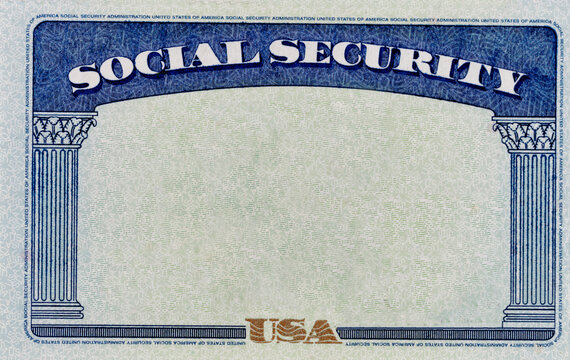 Blank US Social Security Background