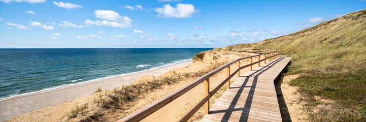 Wall Mural - Path along the Rotes Kliff on the island of Sylt, Mecklenburg-Vorpommern, Germany