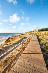 Wall Mural - Along the coast at the Rotes Kliff near Kampen, Sylt, Schleswig-Holstein, Germany