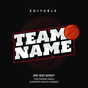 Team Emblem Sport Text Effect Editable Premium Vector