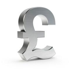 British pound symbol isolated on white, 3D illustration