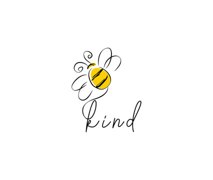 Bee kind logo design