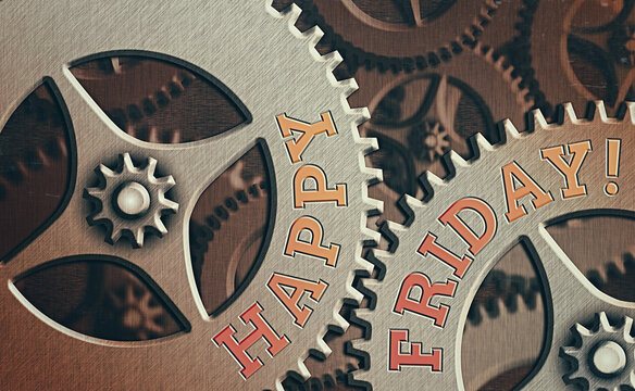 Word writing text Happy Friday. Business photo showcasing celebration of a nice weekend and after work party or dining