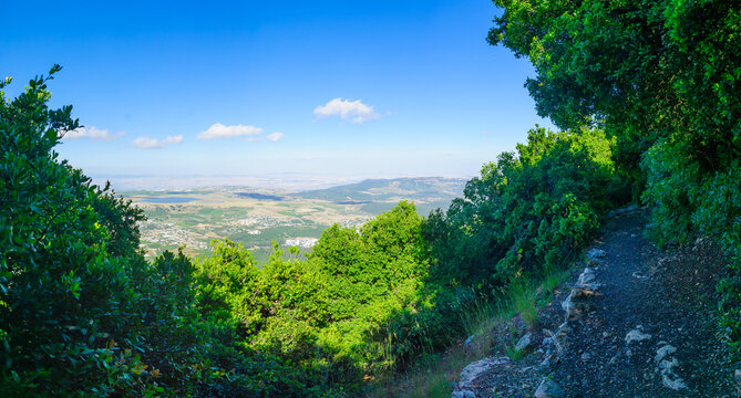 Landscape from Mount Meron in the upper Galilee