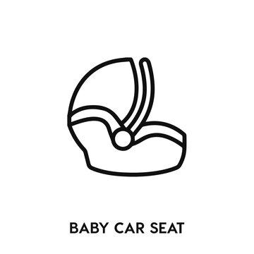 baby car seat icon vector. baby car seat sign symbol.
