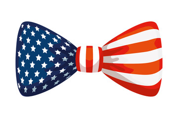 bow tie with usa flag, united states symbol on white background vector illustration design Fotobehang