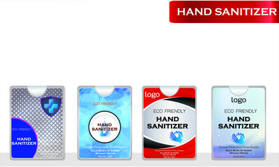 Wall Mural - Hand sanitizer with label design. Packaging design. Advertising of hand sanitizer.