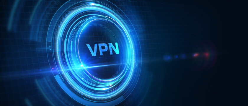 Business, Technology, Internet and network concept. VPN network security internet privacy encryption concept. 3D illustration.