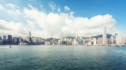 Fototapete - Hong Kong harbour, perfect day