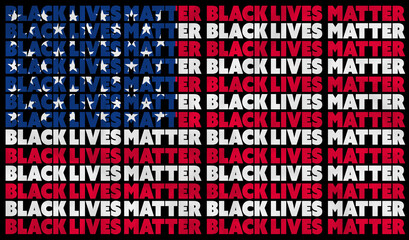 A Black Lives Matter (BLM) graphic illustration for use as poster to raise awareness about racial inequality. police brutality and prejudice against African American's