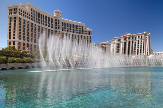 Bellagio and Caesars Palace in Las Vegas
