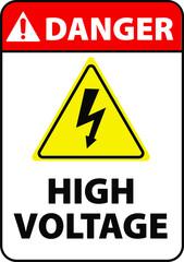 danger high voltage warning sign
