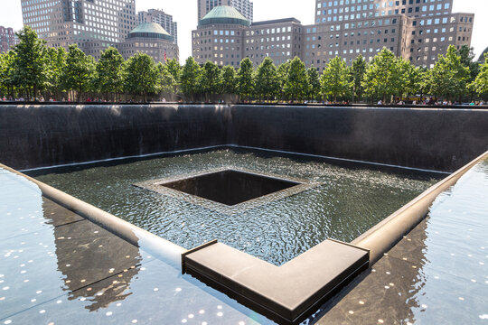 9/11 Memorial park in New York