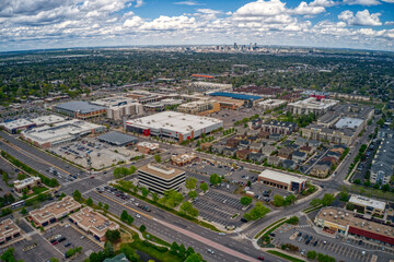 Aerial View of the Denver Suburb of Englewood