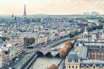 Wall Mural - Paris city panorama in daytime