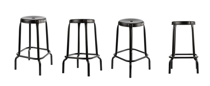 Bar stool isolated on white background.