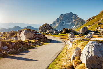 Wall Mural - Excellent summer day in the Durmitor National park. Location place Sedlo pass, Montenegro, Europe.