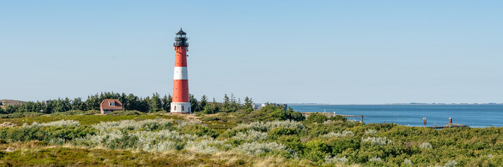 Wall Mural - Panoramic view of the Lighthouse Hörnum, Sylt, Schleswig-Holstein, Germany