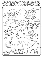 Poster For Kids Coloring book dinosaur composition image 2
