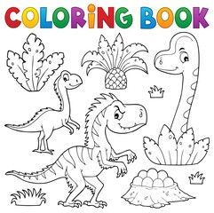 Poster For Kids Coloring book dinosaur composition image 3