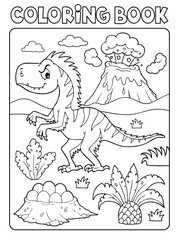 Poster For Kids Coloring book dinosaur composition image 4