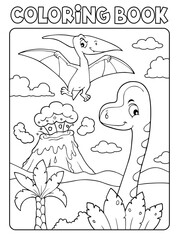 Poster For Kids Coloring book dinosaur composition image 5
