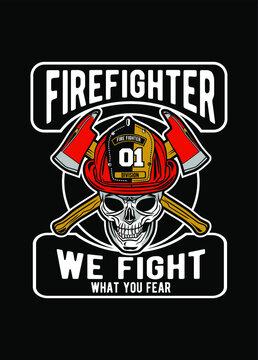 skull firefighter