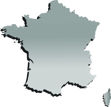 France map gray outline vector