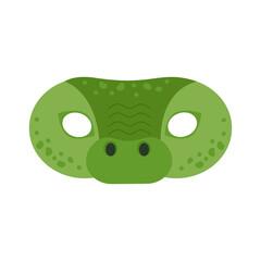 illustration of carnival mask animals africa crocodile. Eye mask for masquerade, children's party. for design, postcards. vector