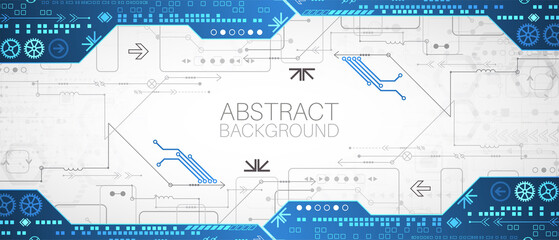 Wall Mural - Abstract technology concept. High computer color background. Vector illustration