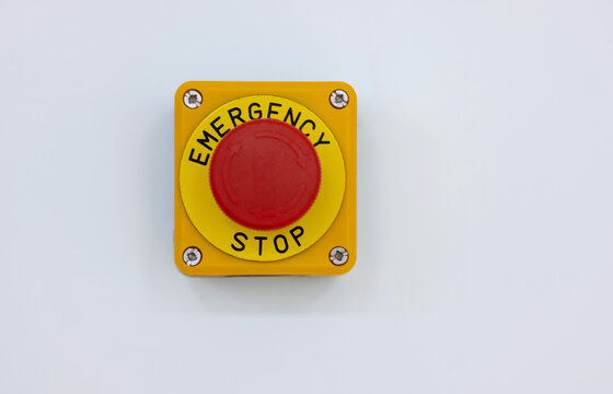 Emergency stop button.