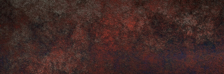 Halloween horror dirty old dark red wall background. Bloody rough 3D illustration