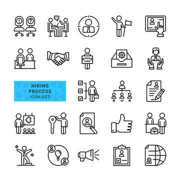 Hiring process icon set.