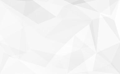 Poligon geometric background. Pastel grey white background.