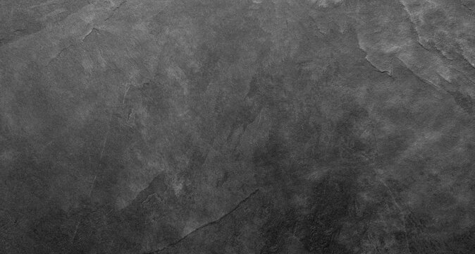 Natural dark gray slate stone texture background