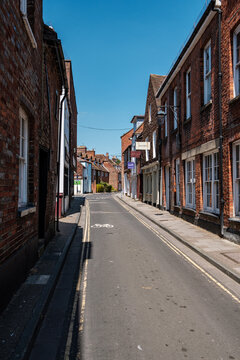 Empty streets in Chichester, West Sussex during Covid-19 shut down