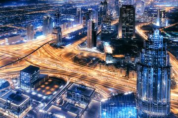 Fototapete - Dubai city by night