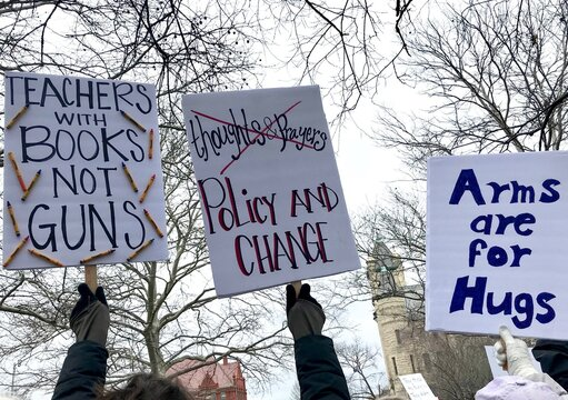 Lawrence, Kansas/United States - March 24 2018: March for Our Lives Protest Against Gun Violence in Schools and Arming Teachers