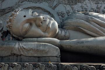Lying Buddha statue at the Long Son Pagoda, Nha Trang, Vietnam