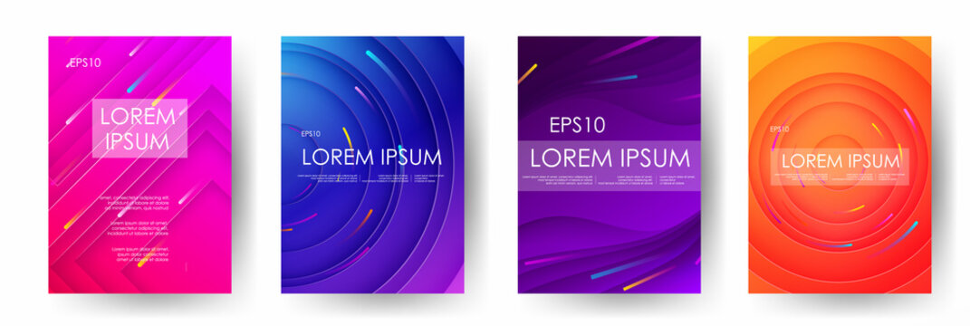 Shiny gradients abstract vector banners. 3D style with shadows design. Vector liquid template design backround illustration. Can be used for banners flyers or web. EPS 10.