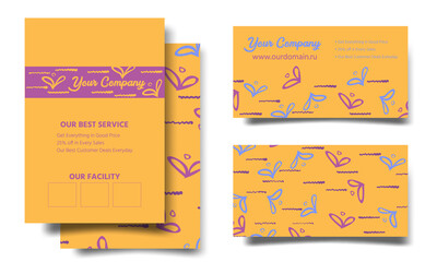Template for a flyer, flyer, business card, invitation, poster. Vector illustration hand drawing.