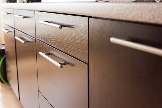drawers in the kitchen