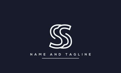 alphabet letters monogram icon logo SS